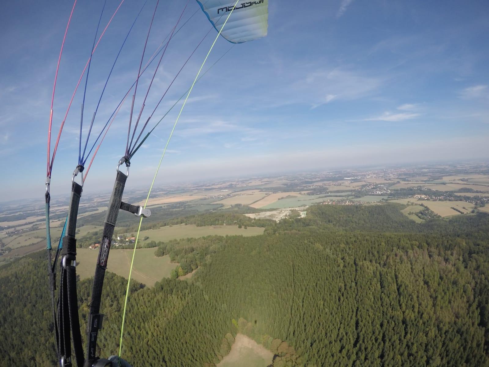 Paragliding Gleitschirm Irgersdorf Sachsen