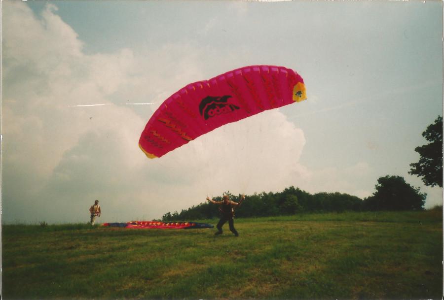 Paragliding Gleitschirm Sachsen Berthelsdorf Edel Apollo