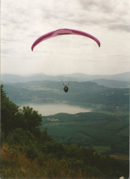 Paragliding Gleitschirm Lac de Bourget  Frankreich